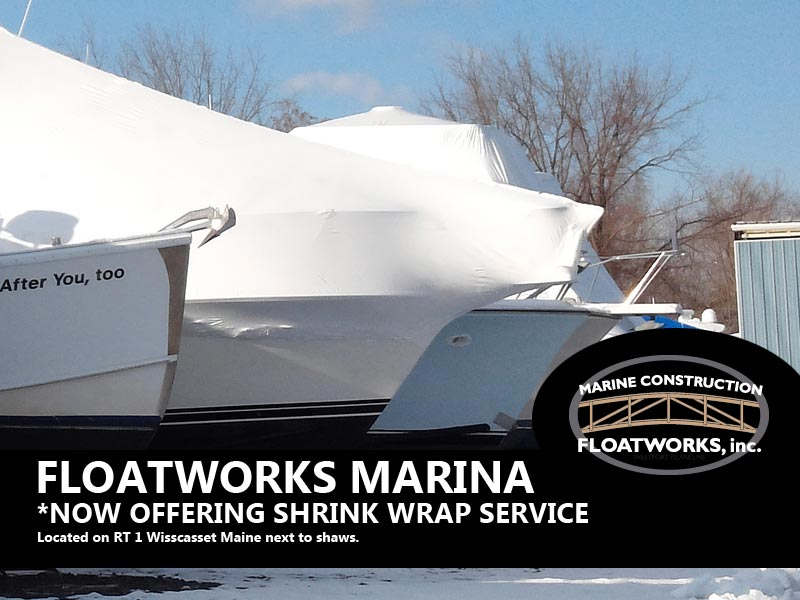 wiscasset main boat shrink wrap service